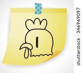 doodle cock | Shutterstock . vector #346969097