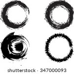 set of vector grunge circle... | Shutterstock .eps vector #347000093