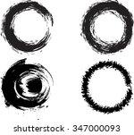 set of vector grunge circle... | Shutterstock .eps vector #347000093