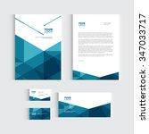 brochure  flyer or report for... | Shutterstock .eps vector #347033717