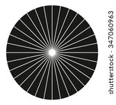 vector circle black sunburst... | Shutterstock .eps vector #347060963