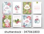 set of brochure  poster... | Shutterstock .eps vector #347061803