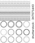 set of seamless black brushes.... | Shutterstock .eps vector #347071643