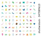 fashion 100 icons  universal... | Shutterstock . vector #347089613