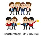 friends and friendly relation...   Shutterstock .eps vector #347109653
