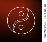 yinyang icon. chinese opposite... | Shutterstock .eps vector #347113313