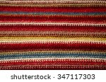 knitted striped texture ... | Shutterstock . vector #347117303