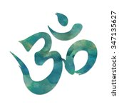 image of the mantra symbol  ohm ... | Shutterstock . vector #347135627
