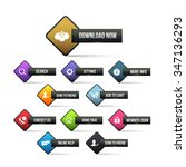 website buttons set