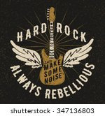 rock music graphic design with...