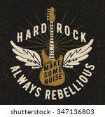 Постер, плакат: rock music graphic design