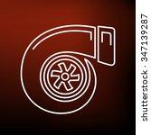 turbo icon. turbocharger sign.... | Shutterstock .eps vector #347139287