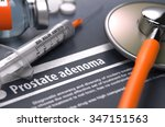 prostate adenoma   printed... | Shutterstock . vector #347151563
