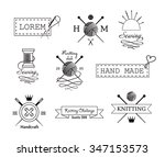 knitting and sewing vector... | Shutterstock .eps vector #347153573