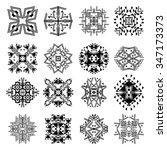 vector set of tribal black and... | Shutterstock .eps vector #347173373