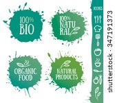 badges and logos for organic... | Shutterstock .eps vector #347191373