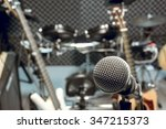 selective focus microphone and... | Shutterstock . vector #347215373