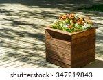 Town Wooden Flowerbed