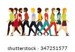 people walking design  vector...   Shutterstock .eps vector #347251577