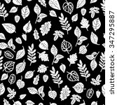 seamless pattern with leaves....   Shutterstock .eps vector #347295887