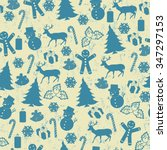 seamless pattern on vintage... | Shutterstock .eps vector #347297153