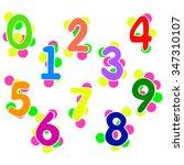 a set of digits   Shutterstock .eps vector #347310107