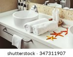 bathroom luxury interior. white ... | Shutterstock . vector #347311907