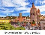 parroquia archangel church...   Shutterstock . vector #347319533