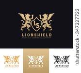 lion shield logo lion logo... | Shutterstock .eps vector #347327723