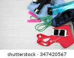 sport clothes  shoes  and smart ... | Shutterstock . vector #347420567