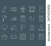 icon collection  household | Shutterstock .eps vector #347453303