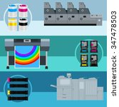 printing equipment. color... | Shutterstock .eps vector #347478503