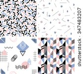 set of seamless abstract... | Shutterstock .eps vector #347483207