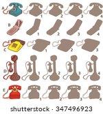 telephones shadow visual game.... | Shutterstock .eps vector #347496923