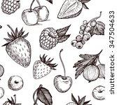 hand drawn vector seamless... | Shutterstock .eps vector #347504633