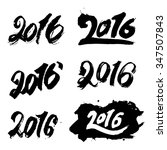 2016 new year hand lettering... | Shutterstock .eps vector #347507843