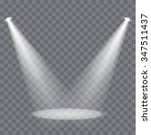 vector spotlights scene | Shutterstock .eps vector #347511437
