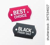 discount color vector labels   Shutterstock .eps vector #347534027