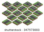isometric collection of... | Shutterstock .eps vector #347573003