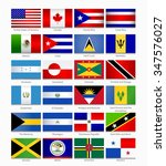 flags of the americas. part 1 | Shutterstock .eps vector #347576027