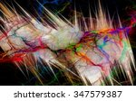 Abstract Colorful Lightning...