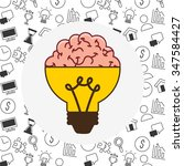 think concept design  vector... | Shutterstock .eps vector #347584427