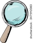 outlined magnifying glass icon... | Shutterstock .eps vector #347592083
