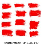 grunge shapes  set  red... | Shutterstock .eps vector #347603147
