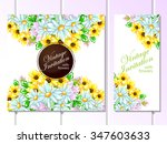 abstract flower background with ... | Shutterstock . vector #347603633