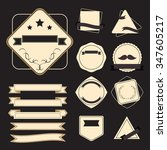 vector label hipster set | Shutterstock .eps vector #347605217