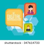 digital communication  concept... | Shutterstock .eps vector #347614733