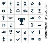 award icons vector set | Shutterstock .eps vector #347623217
