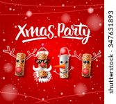 xmas party template  christmas... | Shutterstock .eps vector #347631893