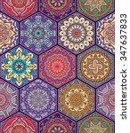 seamless pattern. vintage... | Shutterstock .eps vector #347637833